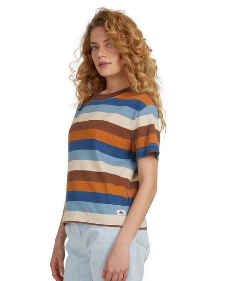 MACADAMIA COLORWAY T WOMENS CLOTHING QUIKSILVER TEES - EQWKT03102-YZK3