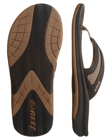 BLACK TAN MENS FOOTWEAR REEF THONGS - 2444BTA