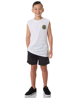 BLACK KIDS BOYS GLOBE BOARDSHORTS - GB41518002BLK