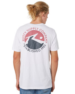 WHITE MENS CLOTHING RUSTY TEES - TTM2151WHT