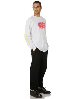 WASHED WHITE MENS CLOTHING MISFIT TEES - MT005013WSHWT
