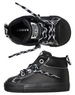 BLACK BLACK KIDS TODDLER BOYS CONVERSE FOOTWEAR - 762311BKBK