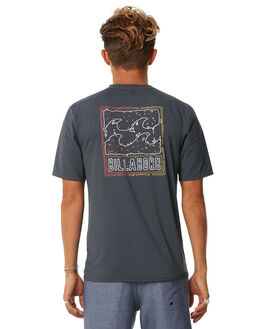 CHARCOAL SURF RASHVESTS BILLABONG MENS - 9772022CHAR