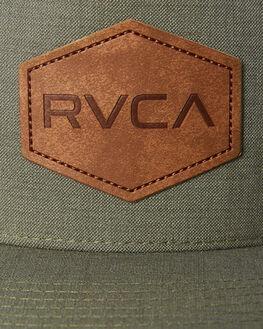 GREEN HEATHER MENS ACCESSORIES RVCA HEADWEAR - R381562AGRNH