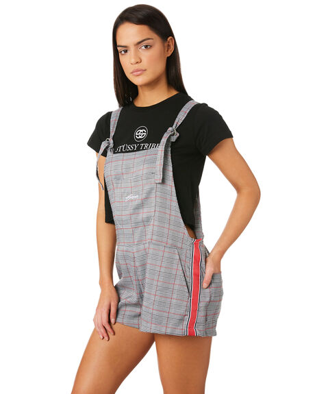 GREY CHECK WOMENS CLOTHING STUSSY PLAYSUITS + OVERALLS - ST183602GRY
