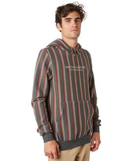 OLIVE MENS CLOTHING RHYTHM JUMPERS - JAN20M-FL04-OLI