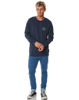 VINTAGE INDIGO MENS CLOTHING RHYTHM JUMPERS - APR18M-FL02-IND