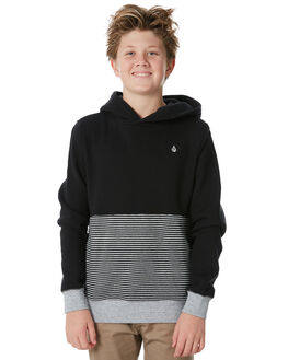 BLACK KIDS BOYS VOLCOM JUMPERS + JACKETS - C4131813BLK