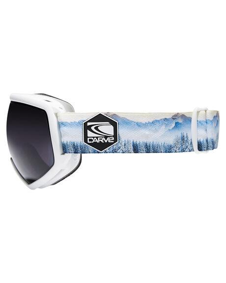 WHITE GREY BOARDSPORTS SNOW CARVE GOGGLES - 6164WHIGR