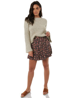 WASHED BLACK WOMENS CLOTHING TIGERLILY SKIRTS - T383270WBLK
