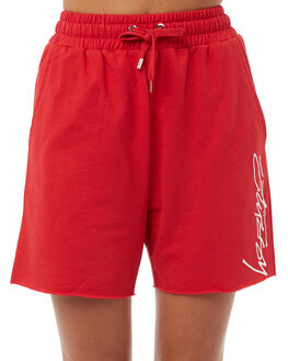 RED WOMENS CLOTHING STUSSY SHORTS - ST185619RED
