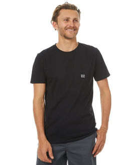BLACK MENS CLOTHING RPM TEES - 7PMT03ABLK