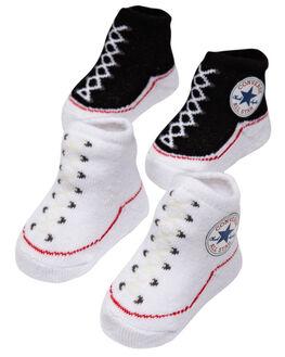 JET BLACK KIDS BABY CONVERSE FOOTWEAR - RCNV001JBLK