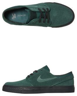 MIDNIGHT GREEN MENS FOOTWEAR NIKE SKATE SHOES - 333824-312