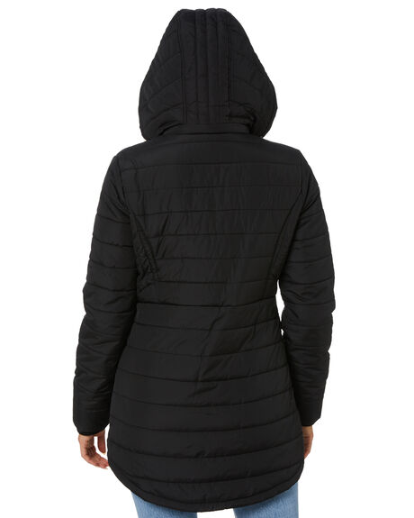 BLACK WOMENS CLOTHING VOLCOM JACKETS - B1512075BLK