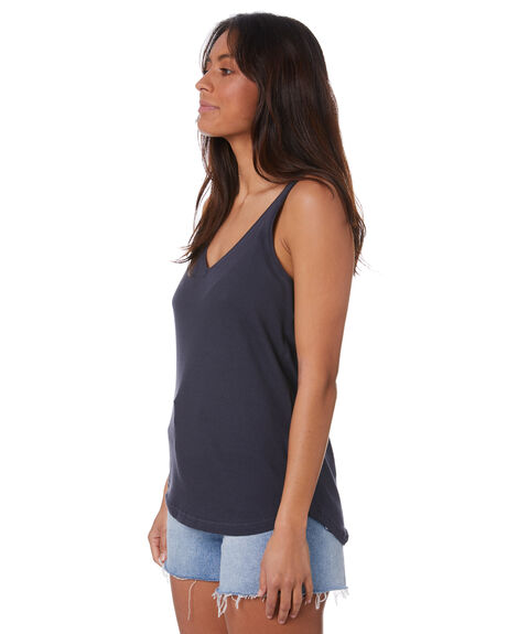 NAVY WOMENS CLOTHING SILENT THEORY SINGLETS - 6008000NVY