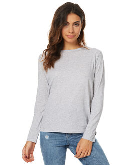 GREY MARLE WOMENS CLOTHING ASSEMBLY TEES - ASW-1654GREYM