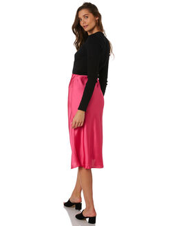 DEEP PINK WOMENS CLOTHING LULU AND ROSE SKIRTS - LU23705PINK