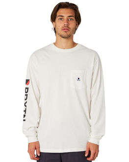 OFF WHITE MENS CLOTHING BRIXTON TEES - 06934OFFWH
