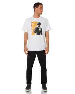 WHITE MENS CLOTHING HUF TEES - TS01314-WHT