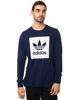COLLEGIATE NAVY MENS CLOTHING ADIDAS TEES - DH3885CNVY