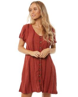 RUST WOMENS CLOTHING THE HIDDEN WAY DRESSES - H8182445RUST