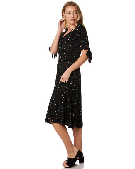 BLACK FROLIC FLORAL WOMENS CLOTHING ALL ABOUT EVE DRESSES - 6434016PRNT