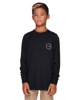 BLACK RINSE KIDS BOYS ELEMENT TOPS - EL-307051-2BR