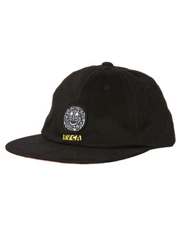 BLACK MENS ACCESSORIES RVCA HEADWEAR - R181564BLK