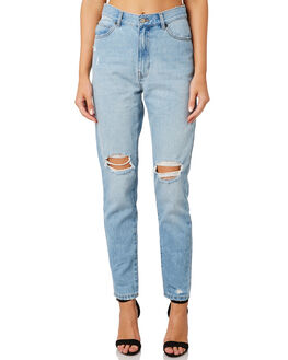RULEBREAKER RIPPED WOMENS CLOTHING DR DENIM JEANS - 1430113-I13