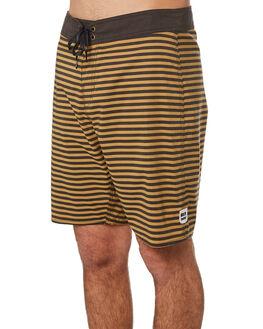 BLACK BRONZE STRIPE MENS CLOTHING BRIXTON BOARDSHORTS - 04080BLKBS