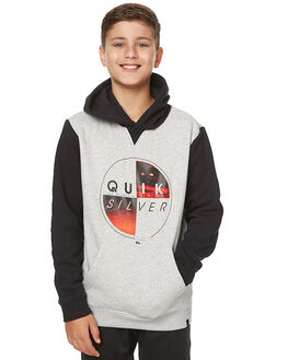LIGHT GREY HEATHER KIDS BOYS QUIKSILVER JUMPERS - EQBFT03357LGH