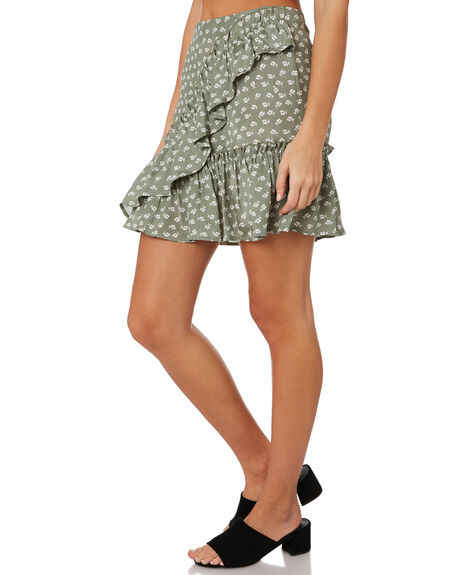 SAGE W IVORY FLORAL WOMENS CLOTHING THE FIFTH LABEL SKIRTS - 40190533-4SAGE