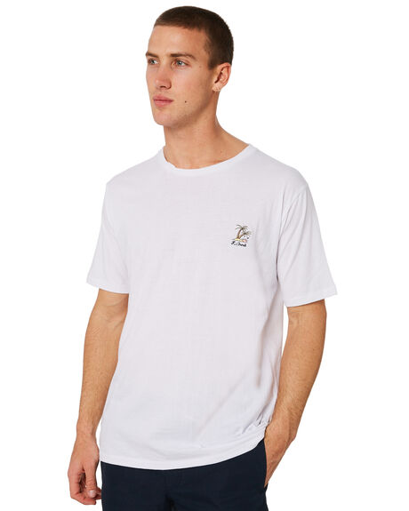WHITE MENS CLOTHING BARNEY COOLS TEES - 117-CR3WHT