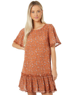TAN WOMENS CLOTHING THE HIDDEN WAY DRESSES - H8184441TAN