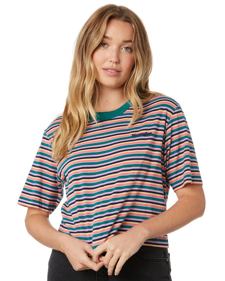 MULTI STRIPE WOMENS CLOTHING WRANGLER TEES - W-951497-772