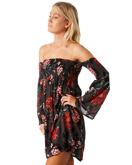 BLACK WOMENS CLOTHING BILLABONG DRESSES - 6581472BLK