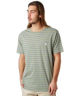 SEAGRASS STRIPE MENS CLOTHING BARNEY COOLS TEES - 106-CR2SSTRP