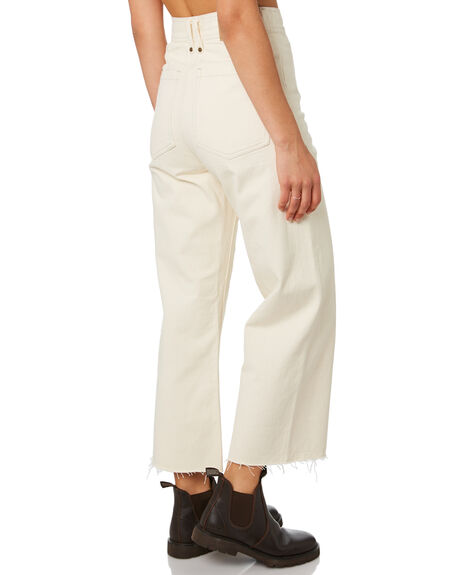 SHADY WHITE WOMENS CLOTHING THRILLS JEANS - WTDP-432ASHDWT