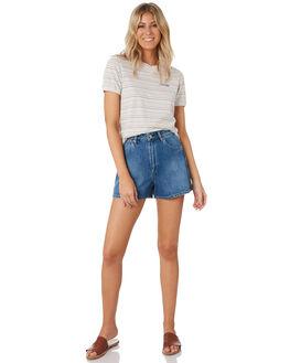 MULTI STRIPE WOMENS CLOTHING WRANGLER TEES - W-951609-DF2