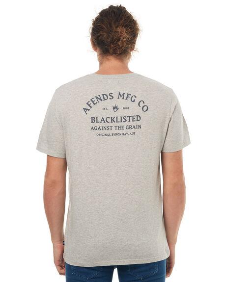 GREY MARLE MENS CLOTHING AFENDS TEES - 01-01-323GRYM