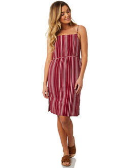 OXBLOOD RED WOMENS CLOTHING ELEMENT DRESSES - 283866OXR