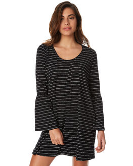 BLK WHT STRP WOMENS CLOTHING BETTY BASICS DRESSES - BB244W17BWSTR
