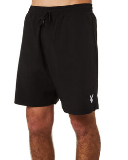 BLACK MENS CLOTHING GOOD WORTH BOARDSHORTS - SPB1821BLK