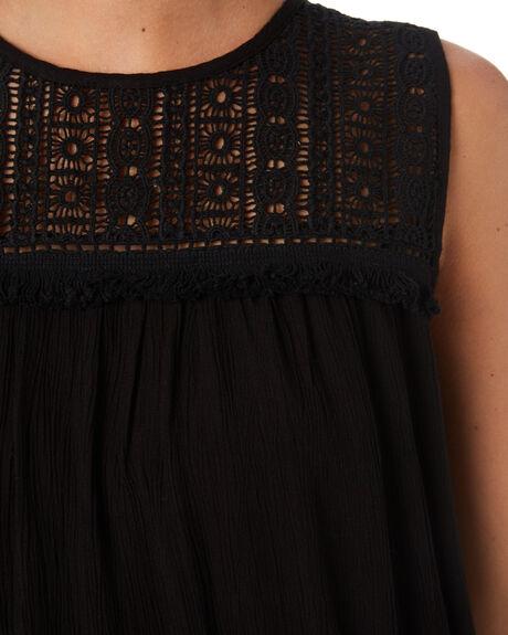 BLACK WOMENS CLOTHING RIP CURL FASHION TOPS - GSHGG10090