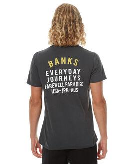 DIRTY BLACK MENS CLOTHING BANKS TEES - WTS0187DBLK