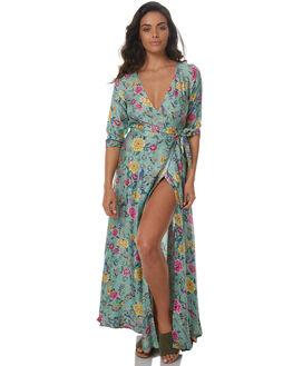 VERDE GREEN WOMENS CLOTHING ARNHEM DRESSES - AC02LSDVERD