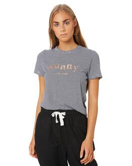 NAVY STRIPE WOMENS CLOTHING ELWOOD TEES - W94118JF6