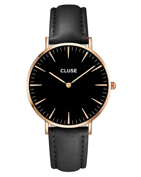 ROSE GOLD BLACK MENS ACCESSORIES CLUSE WATCHES - LCL18001RG