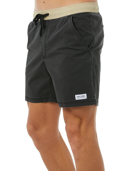 DIRTY BLACK MENS CLOTHING BANKS BOARDSHORTS - BS0120DBL